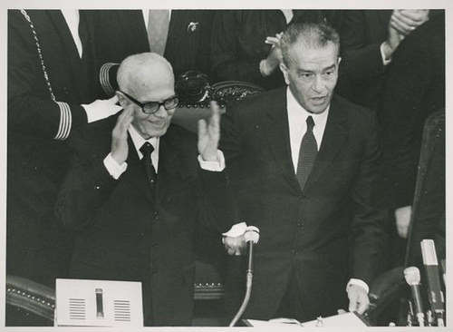 Sandro Pertini con Pietro Ingrao