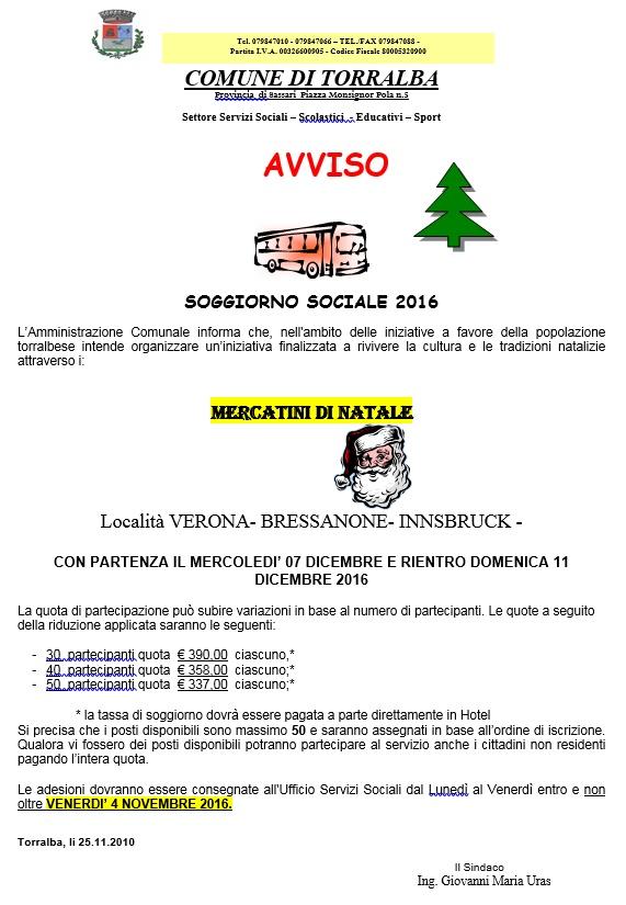 Torralba, soggiorno sociale 2016 a Verona, Bressanone e Innsbruck